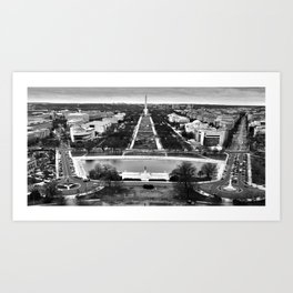 Washington D.C. - west view Art Print