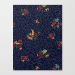 Floral Raptor Canvas Print