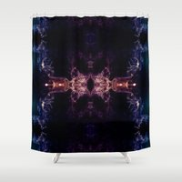 all seeing eye Shower Curtains featuring The all seeing eye by PLdesign