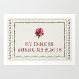 My Home Is - Vintage By Totalia Art Print