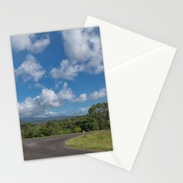 View to the hills from a rural road Stationery Cards