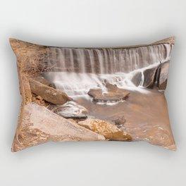 Rustic Rock Run Falls Rectangular Pillow