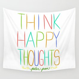Peter Pan Think Happy Thoughts Wall Tapestry