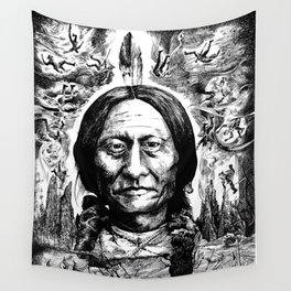 Sitting Bull Wall Tapestry