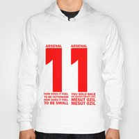arsenal Hoodies featuring Mesut Ozil Chant by Maxvtis