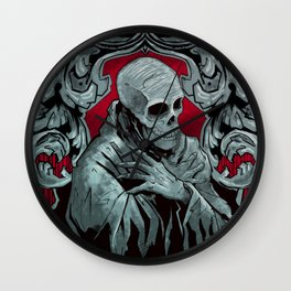 Bone Pope Wall Clock