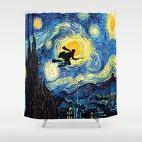 quidditch Shower Curtains featuring Young wizzard abstract art painting iPhone 4 4s 5 5c, ipod, ipad, pillow case, tshirt and mugs by Three Second