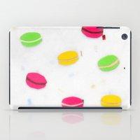 macaron iPad Cases featuring Macaron Papercut by Sally Eyeballs