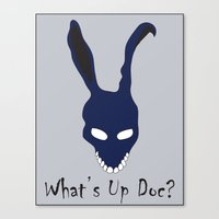 donnie darko Canvas Prints featuring Donnie Darko by The Silence