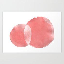Minimal Pink Abstract 06 Art Print