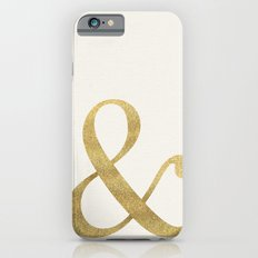 Gold Glitter Ampersand iPhone 6s Slim Case
