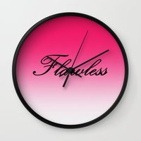 flawless Wall Clocks featuring FlawleSS by 2sweet4words Designs