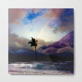 Kona Hawaii Rainbow Metal Print