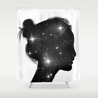 sister Shower Curtains featuring Star Sister by Neon Wildlife