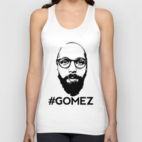 selena gomez Tank Tops featuring Gomez - Black by Dominic DiMaria