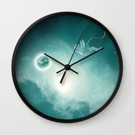 Astronaut Cast Away in Space Wall Clock