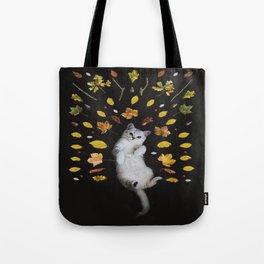 Cute Cat Kitty in Fall Life Tote Bag