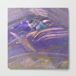 Abstract Paintings - Metallic Purple Lilac Gold Metal Print