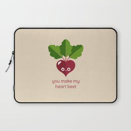 You Make My Heart Beet Laptop Sleeve
