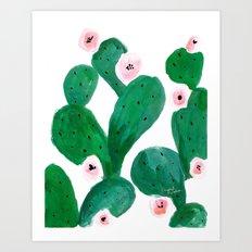 Cactus Clean Green Art Print