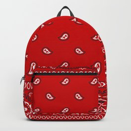Paisley - Bandana - Red - Southwestern - Boho Backpack