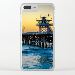 Pier at Days End Clear iPhone Case