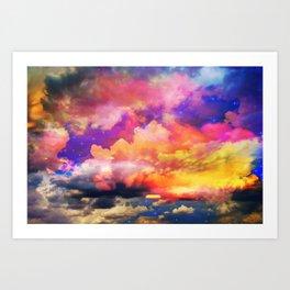 lollipop sunset Art Print