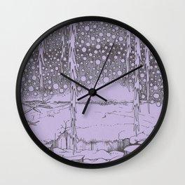 Twilight Snowfall Wall Clock