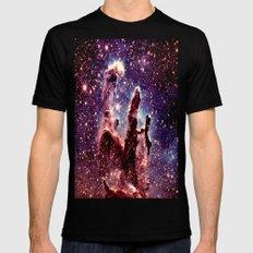 Galaxy nebula : Pillars of creation Black Mens Fitted Tee MEDIUM