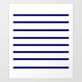 Mariniere marinière – classical pattern Art Print