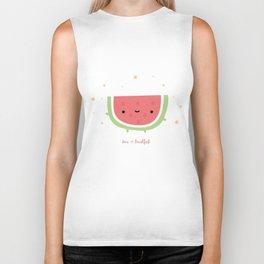 Kawaii watermelon Biker Tank