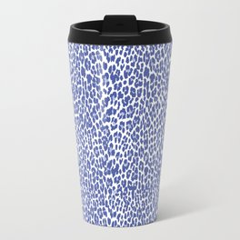 Blue Leopard Print Travel Mug