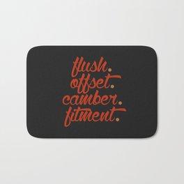 flush offset camber fitment v1 HQvector Bath Mat