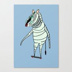 Zebra Dude Canvas Print