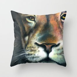 Lion in the Clouds Throw Pillow