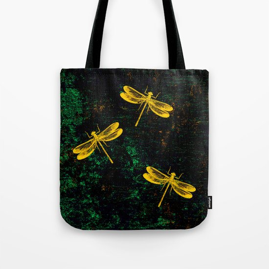 Golden Dragonflies Tote Bag