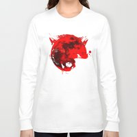werewolf Long Sleeve T-shirts featuring Werewolf by Badamg