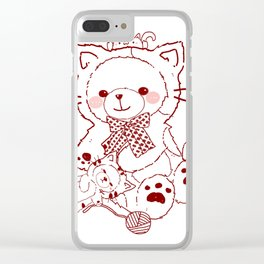The Adventures of Bear and Baby Bear-Cats Clear iPhone Case