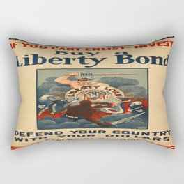 Vintage poster - Liberty Bonds Rectangular Pillow