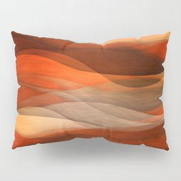 """Sea of sand and caramel waves"" Pillow Sham"