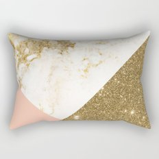 Gold marble collage Rectangular Pillow