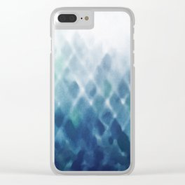 Diamond Fade in Blue Clear iPhone Case