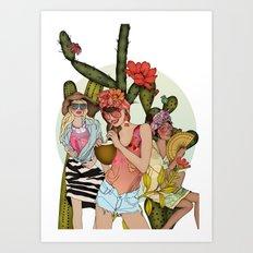 Hot N' Steamy Art Print