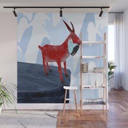 Mountain Goat Design Wall Mural
