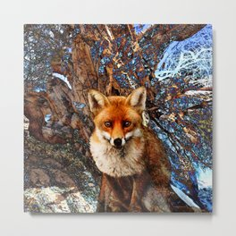 Fox In The Thicket II Metal Print