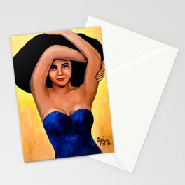 La Mujer del Sombrero Stationery Cards