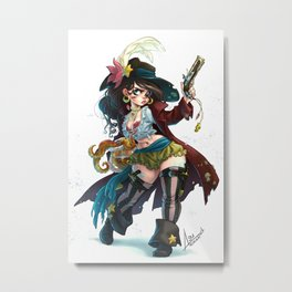 Pirate Mermaid Metal Print