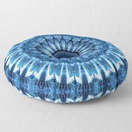 Mandala cool blue Floor Pillow