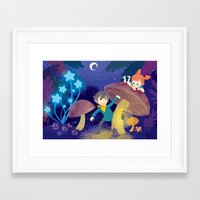 pixies Framed Art Prints featuring Chasing Pixies by Miski