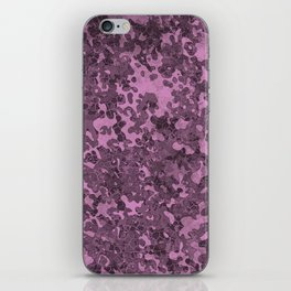 Violet Purple Hybrid Camo Pattern iPhone Skin